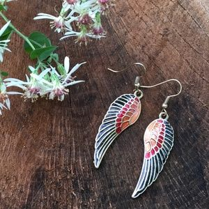 Colorful Wings Statement Earrings